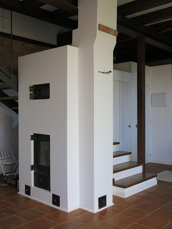 Estufa de Inercia. Estufa Finlandesa en casa de 3 pisos - Único sistema de calefacción