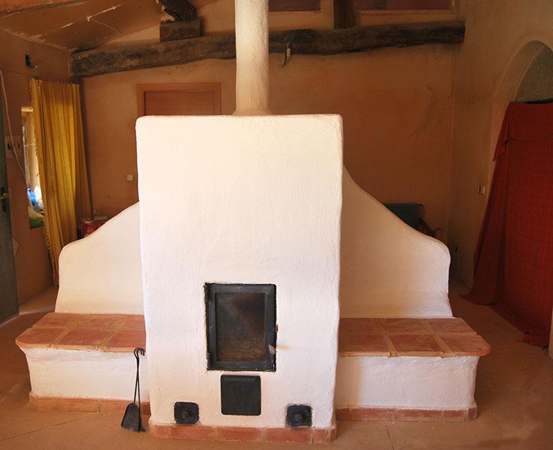 Estufa de Inercia Danesa con doble banco caliente