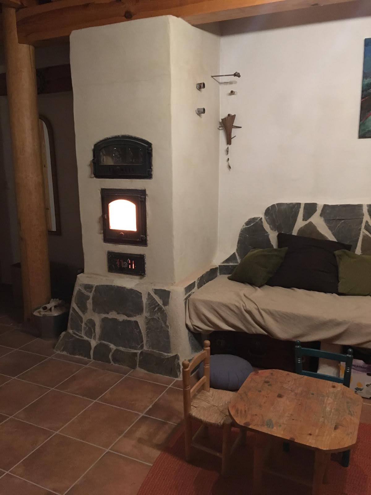 Estufa Rusa con Banco caliente en planta superior
