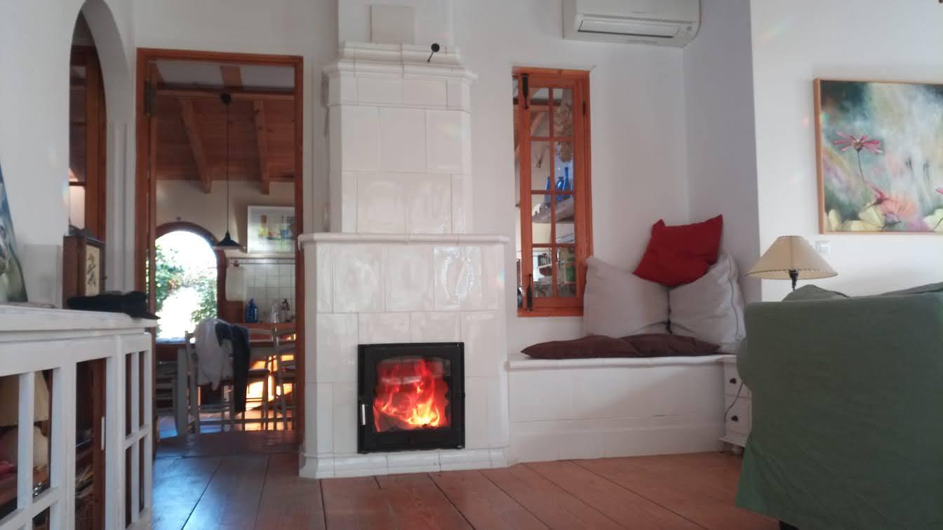Estufa Ceramica con banco caliente doble puerta acristalada plancha y horno blanco