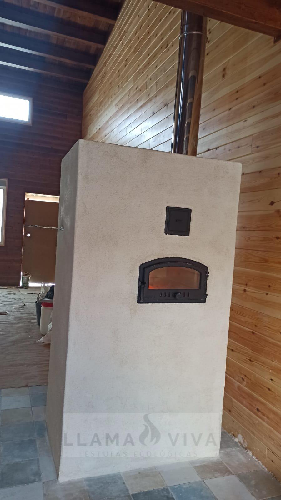 Estufa de Doble Campana con Horno al lado contrario 2